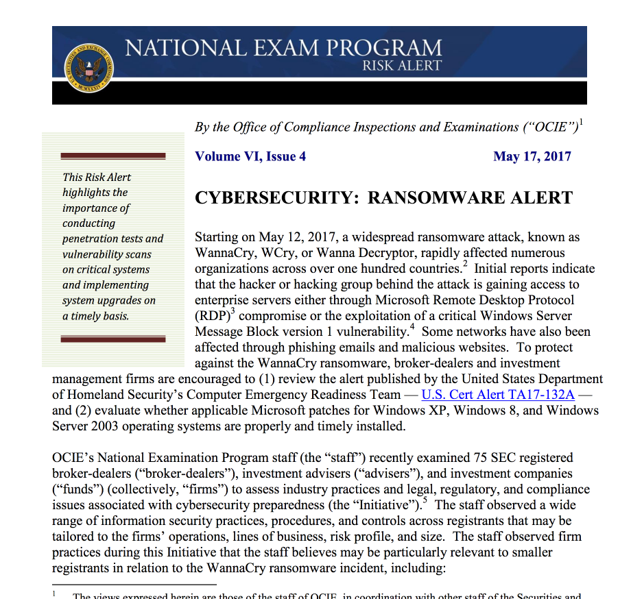Cybersecurity Ransomware