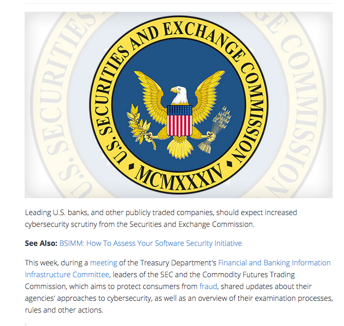 Bank Info Security - SEC Prepares for More Cybersecurity Oversight