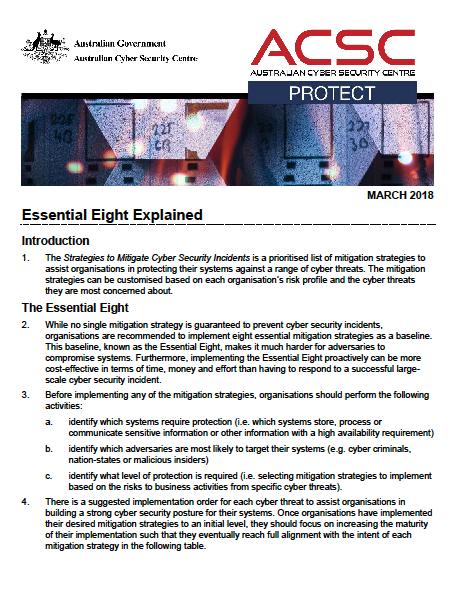 Essential Eight Explained