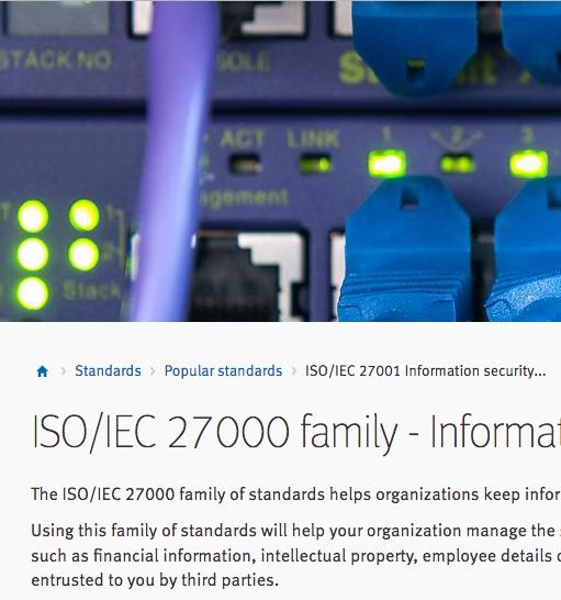 ISO/IEC 27000 family