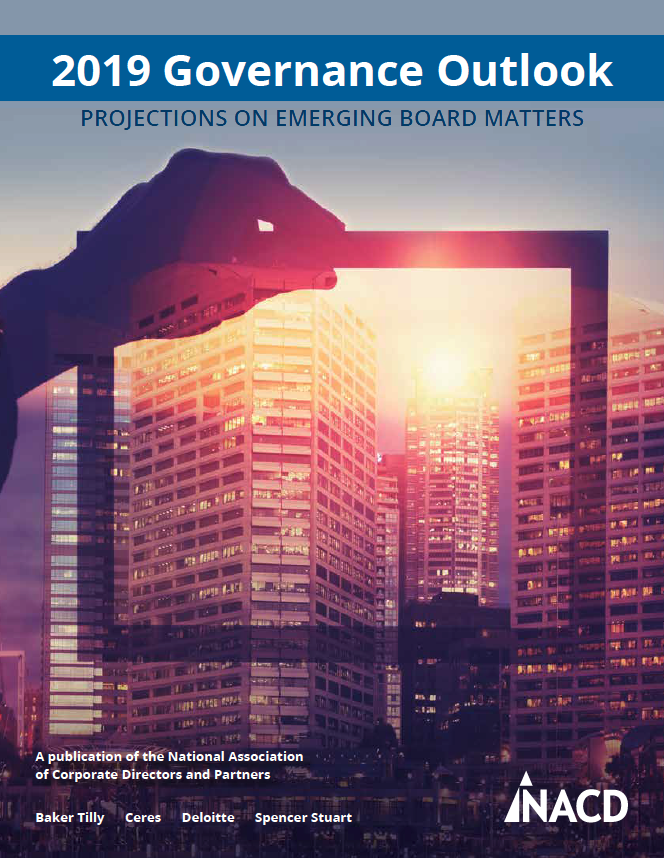 PROJECTIONS ON EMERGING BOARD MATTERS
